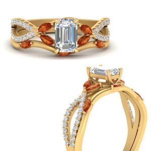 vine-willow-emerald-cut-diamond-ring-with-orange-sapphire-willow-wedding-set-in-FDENR3211BEMGSAORANGLE3-NL-YG