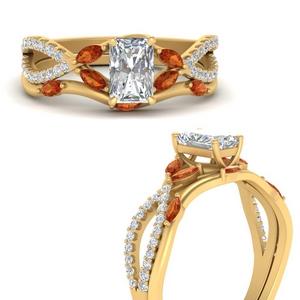 vine-willow-radiant-cut-diamond-ring-with-orange-sapphire-willow-wedding-set-in-FDENR3211BRAGSAORANGLE3-NL-YG