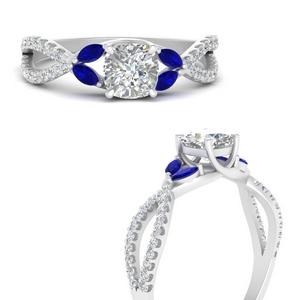 Split Vine Lab Diamond Ring