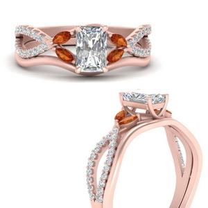 vine-split-band-radiant-cut-diamond-wedding-set-with-orange-sapphire-in-FDENR3211RAGSAORANGLE3-NL-RG