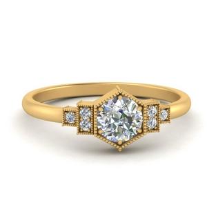 Vintage Moissanite Diamond Ring