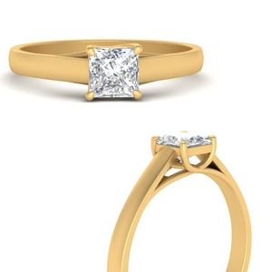 Cathedral Lab Diamond Square Ring