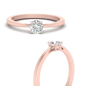 Tapered Lab Diamond Solitaire Ring