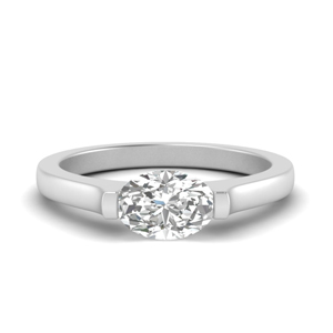 One Carat Oval Engagement Ring