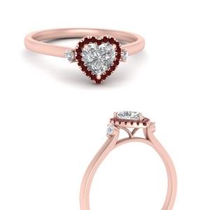 Heart Halo Lab Diamond Rings
