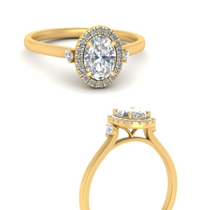Moissanite Oval Shaped Vintage Rings
