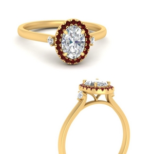 Oval Shaped Halo Engagement Rings