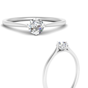 Round Moissanite Engagement Ring