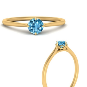 Solitaire Topaz Wedding Ring