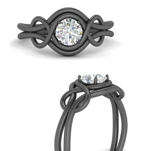 Love Knot Solitaire Diamond Ring