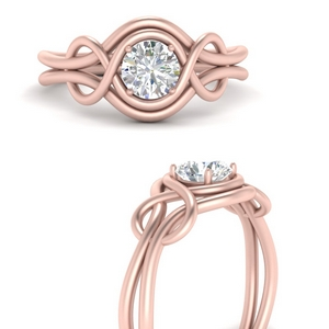 Love Knot Solitaire Lab Diamond Ring