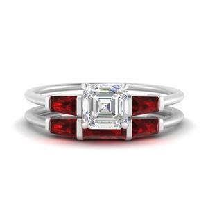 asscher-cut-bar-set-ruby-ring-with-matching-3-baguette-wedding-band-in-FDENS100ASGRUDR-NL-WG