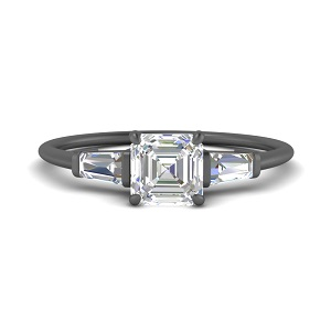 asscher-cut-baguette-3-stone-black-gold-engagement-ring-in-FDENS100ASR-NL-BG