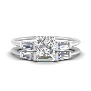 cushion-cut-bar-set-diamond-ring-with-matching-3-baguette-wedding-band-in-FDENS100CU-NL-WG