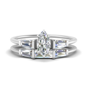 marquise-cut-bar-set-diamond-ring-with-matching-3-baguette-wedding-band-in-FDENS100MQ-NL-WG