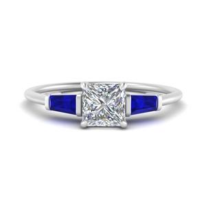 3 Stone Princess Cut Rings
