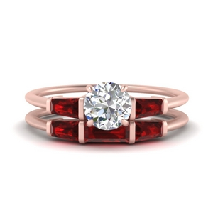 round-cut-bar-set-ruby-ring-with-matching-3-baguette-wedding-band-in-FDENS100ROGRUDR-NL-RG