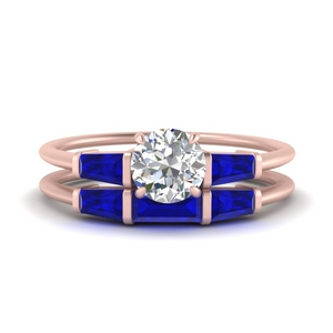 round-cut-bar-set-sapphire-ring-with-matching-3-baguette-wedding-band-in-FDENS100ROGSABL-NL-RG