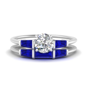 round-cut-bar-set-sapphire-ring-with-matching-3-baguette-wedding-band-in-FDENS100ROGSABL-NL-WG