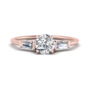 Half Carat Tapered Baguette Diamond Ring