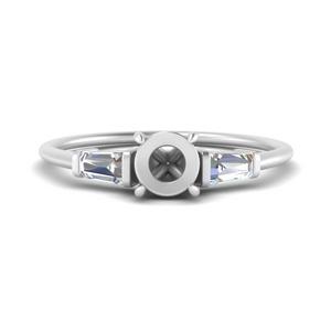 Baguette Diamond Ring Setting