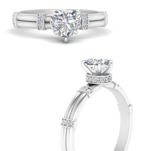 Double Row Engagement Ring