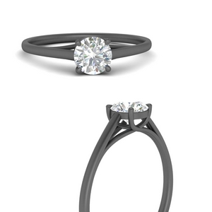 black-gold-simple-solitaire-engagement-ring-FDENS1413RORANGLE3-NL-BG