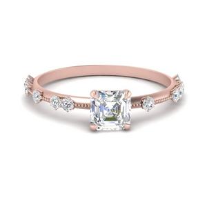 Asscher Cut Moissanite Vintage Rings