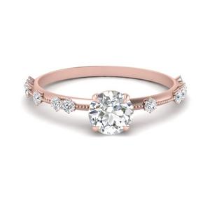 Thin Round Diamond Ring