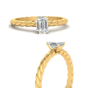 Emerald Cut Solitaire Rings