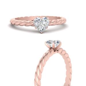 Heart Moissanite Solitaire Ring