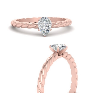 Twisted Rope Solitaire Ring