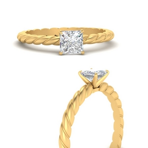 Princess Cut Solitaire Ring Rings