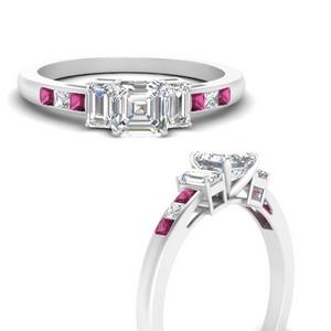 Channel Set 3 Stone Diamond Ring