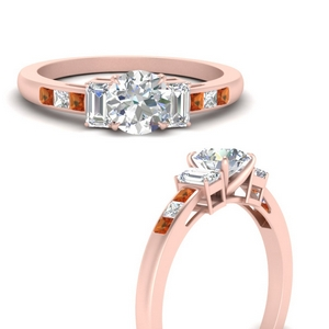 channel-set-3-stone-round-cut-engagement-ring-with-orange-sapphire-in-FDENS207RORGSAORANGLE3-NL-RG