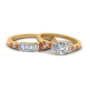 emerald-channel-set-round-cut-wedding-ring-set-with-orange-sapphire-in-FDENS207ROGSAOR-NL-YG