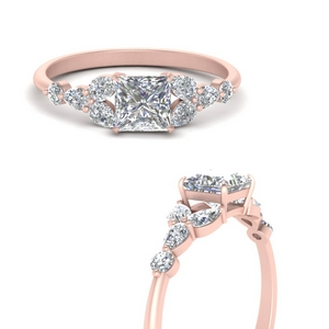 Split Flower Engagement Ring