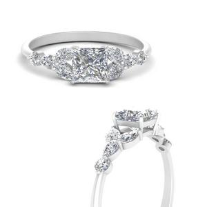 Split Flower Engagement Ring