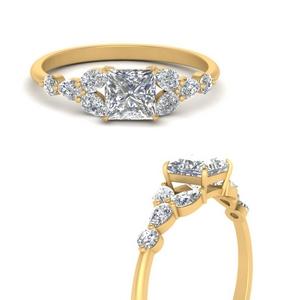 Princess Cut Petite Engagement Rings