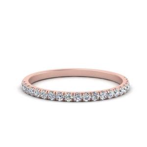 Thin French Prong Band Ring