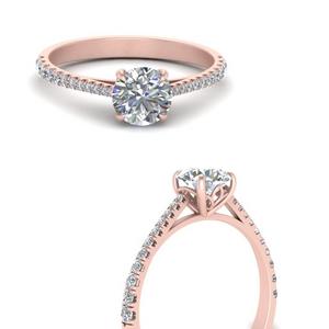 Round Cut Petite Lab Diamond Rings
