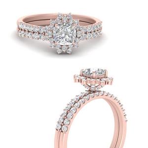 Cushion Cut Wedding Ring Sets