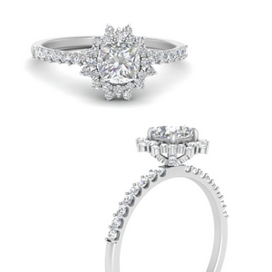 Halo Diamond Rings For Her