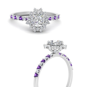 floral-art-deco-cushion-cut-diamond-engagement-ring-with-purple-topaz-in-FDENS3149CURGVITOANGLE3-NL-WG
