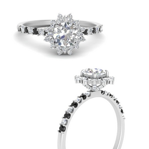 floral-art-deco-round-cut-engagement-ring-with-black-diamond-in-FDENS3149RORGBLACKANGLE3-NL-WG