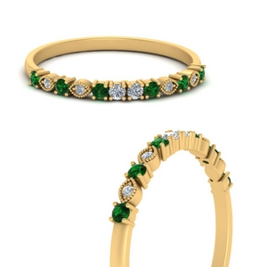 delicate-vintage-stacking-diamond-ring-with-emerald-in-FDENS3178BGEMGRANGLE3-NL-YG