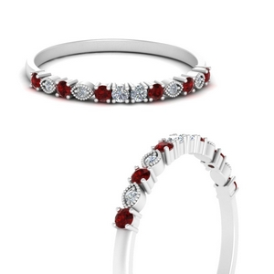 Vintage Stacking Ring With Ruby