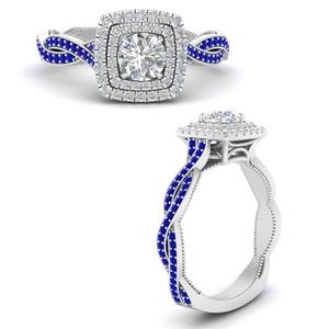 Twisted Shank Lab Diamond Ring
