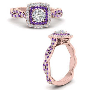 double-halo-round-cut-twisted-vintage-engagement-ring-with-purple-topaz-in-FDENS3203RORGVITOANGLE3-NL-RG