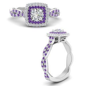 double-halo-round-cut-twisted-vintage-engagement-ring-with-purple-topaz-in-FDENS3203RORGVITOANGLE3-NL-WG